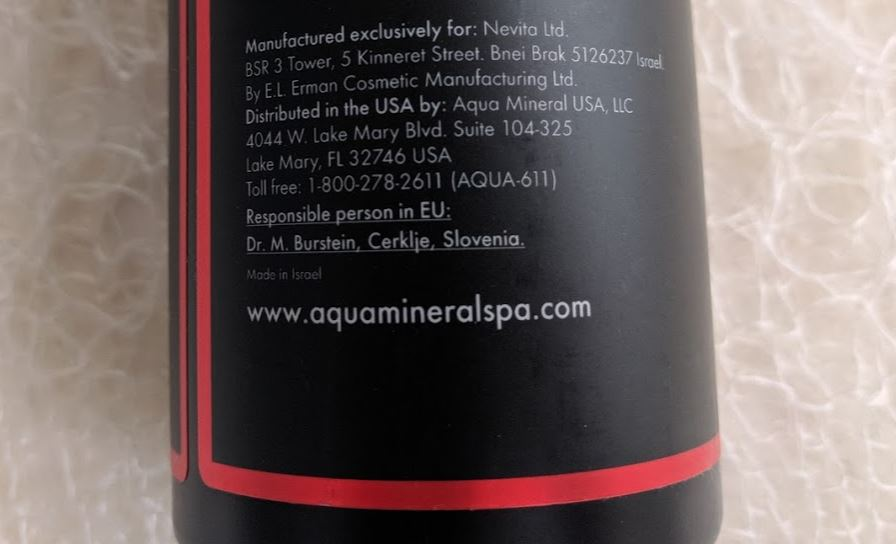 Infundra nourishing shampoo - Aqua Mineral from the Dead Sea